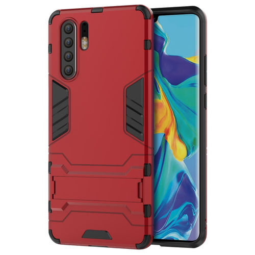 Slim Armour Tough Shockproof Case & Stand for Huawei P30 Pro - Red
